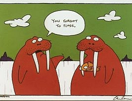 Folosește ața dentară